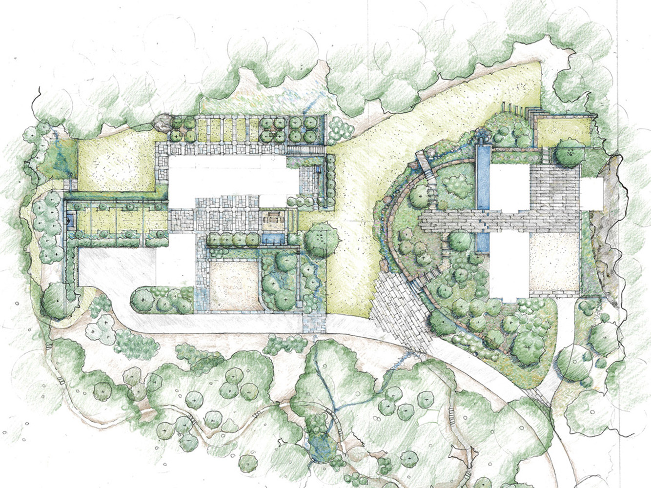 Residential competition design initiative for Residential landscape plan